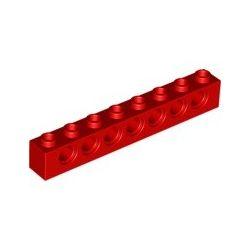 Lochstein 1x8 mit 7 Pinlöchern, rot