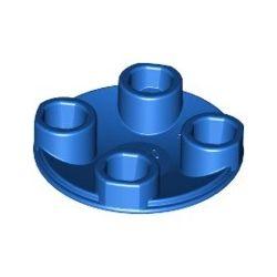 Platte 2x2 rund, abgerundeter Boden, blau