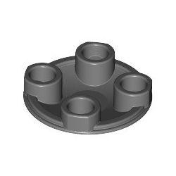 Platte 2x2 rund, abgerundeter Boden, dunkelgrau