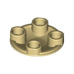 Platte 2x2 rund, abgerundeter Boden, beige