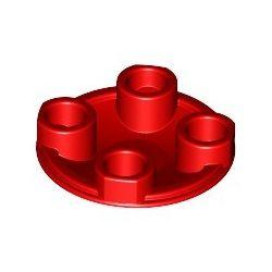 Platte 2x2 rund, abgerundeter Boden, rot