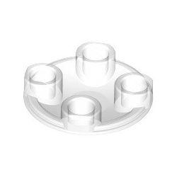 Platte 2x2 rund, abgerundeter Boden, transparent