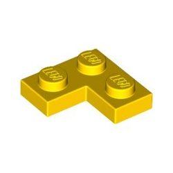 Platte 2x2 Winkel / Ecke, gelb