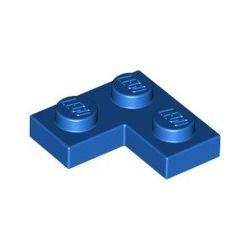 Platte 2x2 Winkel / Ecke, blau