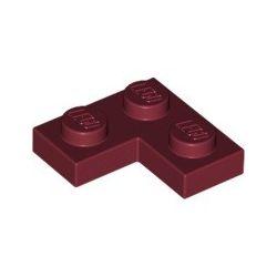 Platte 2x2 Winkel / Ecke, dunkelrot