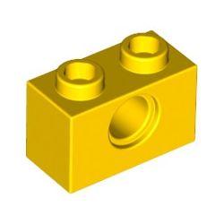 Lochstein 1 x 2 mit Pinloch, gelb