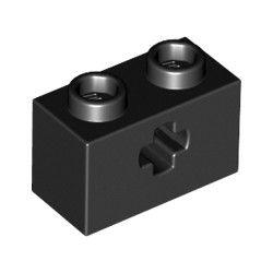 Lochstein 1 x 2 mit Achsenloch, schwarz