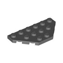 Platte 3x6, abgeschrägte Ecken, dunkelgrau