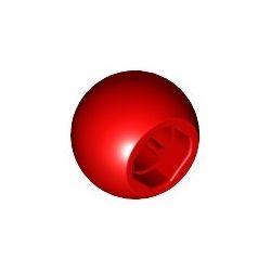 Kugel / Ball mit Achsenloch, rot