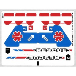 Sticker 42020 Twin-rotor Helicopter