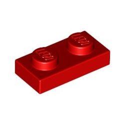 Platte 1x2, rot