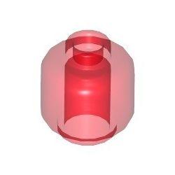 Kopf einfarbig, transparent rot