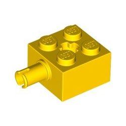 Stein 2x2 mit Pin, gelb