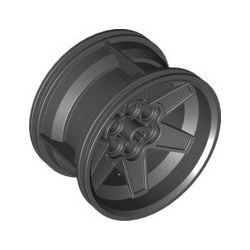Felge 56mm x 34mm, 6 Pinlöcher, schwarz