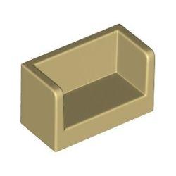 Paneele mit Seitenwänden 1x2x1, beige