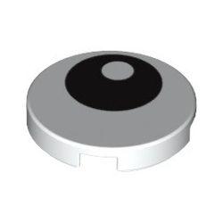 Kachel / Fliese 2x2 rund mit Auge, weiss