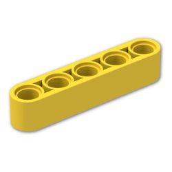 Lochbalken 1 x 5 dick, gelb