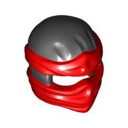 Ninja Maske, schwarz / rot
