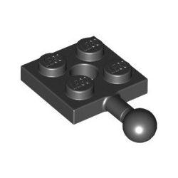 Platte 2x2 mit Kugelkopf, schwarz