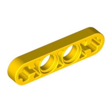 Lochbalken 1 x 4 schmal, gelb
