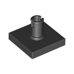 Platte 2x2 mit vertikalem Pin, schwarz