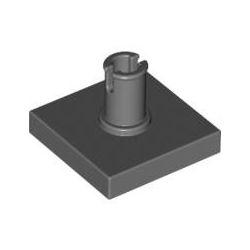 Platte 2x2 mit vertikalem Pin, dunkelgrau