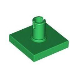 Platte 2x2 mit vertikalem Pin, grün