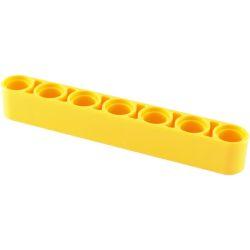 Lochbalken 1 x 7 dick , gelb