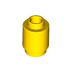 Stein 1x1 rund, gelb