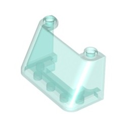 Windschutzscheibe 2x4x2, transparent hellblau