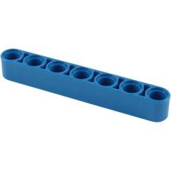 Lochbalken 1 x 7 dick , blau