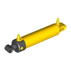Pneumatik Zylinder 2x11, gelb