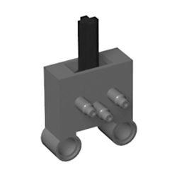 Pneumatik Schalter mit 2 Pinlöchern, dunkelgrau