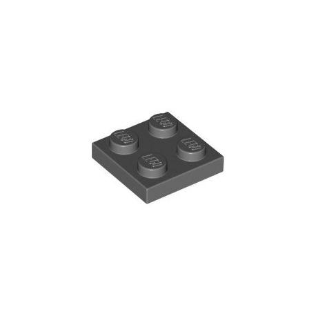 Platte 2x2, dunkelgrau