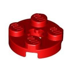 Platte 2x2 rund, rot