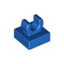 Platte 1x1 mit Clip oben, blau