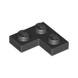 Platte 2x2 Winkel / Ecke, schwarz