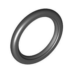 Vollgummireifen für Riemenrad, schwarz