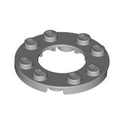 Platte 4x4 rund mit Ausschnitt 2x2 rund, hellgrau