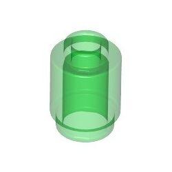 Stein 1x1 rund, transparent grün