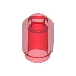 Stein 1x1 rund, transparent rot