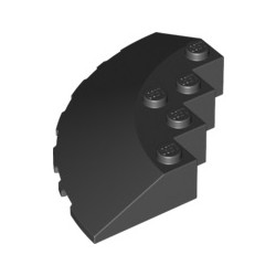 Stein 6x6 viertelrund, schwarz