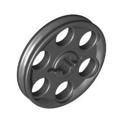 Seilrolle / Riemenrad, schwarz