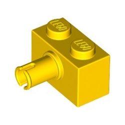 Stein 1x2 mit Pin, gelb