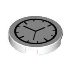 """Kachel / Fliese 2x2 rund """"Uhr"""", weiss"""