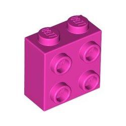 Stein 1x2x2 mit 4 seitlichen Noppen, pink