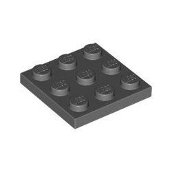 Platte 3x3, dunkelgrau