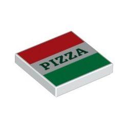 """Kachel / Fliese 2x2 """"Pizzakarton"""", weiss"""