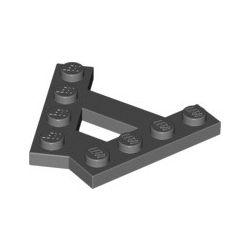 Platte A-Form (45°), 2x 1x4, dunkelgrau