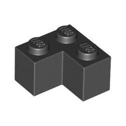 Stein 2x2 Winkel / Ecke, schwarz